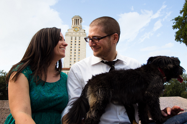Sarah and Ross's University of Texas at Austin Engagement Session