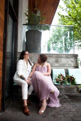 Shaun and Lindsey's Lambert's BBQ Downtown Wedding